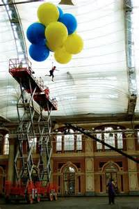 Eur-eek-a! The moment a pupil jumps 40ft from crane with