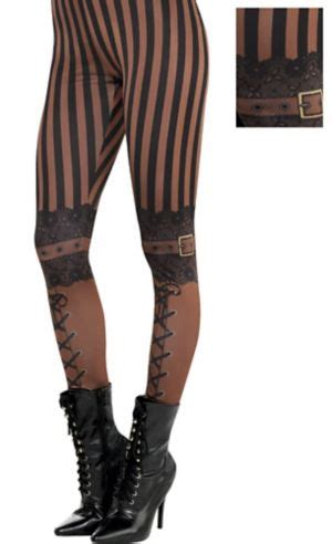 Adult Steampunk Leggings - Party City