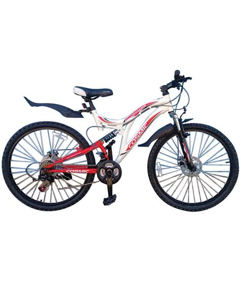 COSMIC VOYAGER MTB BICYCLE-21 SPEED (WHITE/RED): Buy