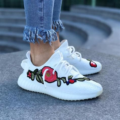 Embroidered Yeezy Boost Sneakers   POPSUGAR Fashion