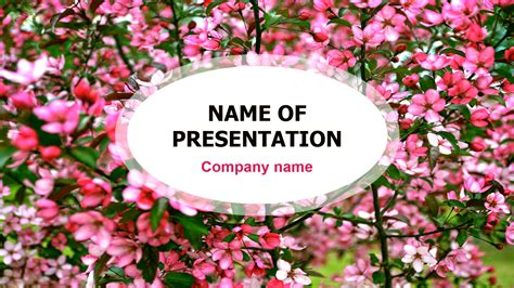 Download free Red Blossom powerpoint template for your