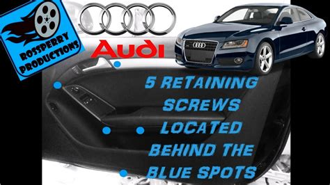 How to Remove the Interior Door Card / Panel on a Audi A5