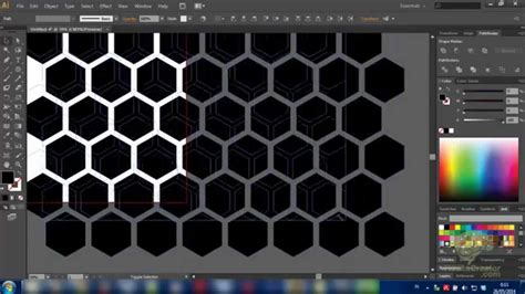Simple tutorial how to make a hexagon pattern (honeycomb