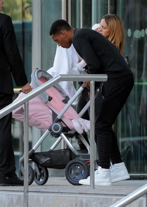 Anthony Martial and family leaving Lowry Hotel