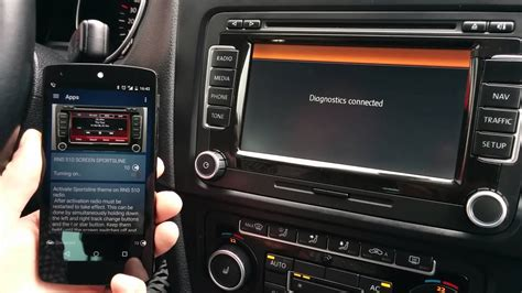 RNS 510 Navigation OBDeleven bluetooth device for Android