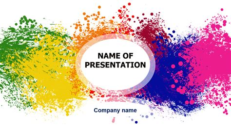Color Game PowerPoint template for impressive presentation