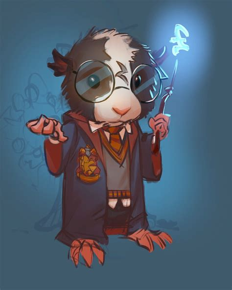 Guinea Pig Harry Potter, with friends on Behance